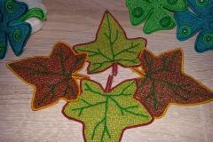 Herbstblätter im LACE-Stil  vier Blätter 11,55 €