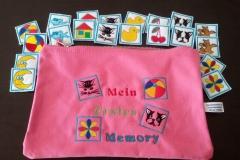 Memory mit Tasche gestickt auf Filz 15 verschiedene Motive 25,50 €