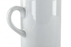 sehr schmale Tasse, oben abgerundet, Rohling vor der Bedruckung