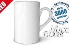 Tasse-MaxGlaze, sehr schmale Tasse, Rohling vor der Bedruckung